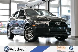 Used 2016 Audi Q3 2.0T Komfort quattro * TOIT * BLUETOOTH for sale in Vaudreuil-Dorion, QC