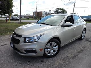 Used 2015 Chevrolet Cruze Back Up Cam | Remote Start |  Bluetooth for sale in BRAMPTON, ON