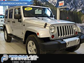 Used 2012 Jeep Wrangler Unlimited Sahara Bluetooth/Air Climatisé for sale in Laval, QC