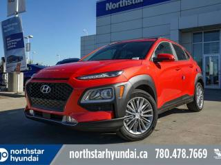 Used 2020 Hyundai KONA LUXURY- PUSH BUTTON/LEATHER/PANORAMIC SUNROOF/APPLE CAR PLAY/BACK UP CAM for sale in Edmonton, AB