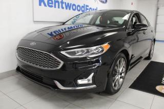 Used 2019 Ford Fusion Hybrid Titanium HYBRID FWD | Heated/Cooled Leather | Sunroof | NAV for sale in Edmonton, AB