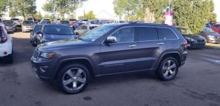Used 2014 Jeep Grand Cherokee OVRLND; LOADED, LEATHER, NAV, BLUETOOTH, BACKUP CAM, SUNROOF AND MORE for sale in Edmonton, AB
