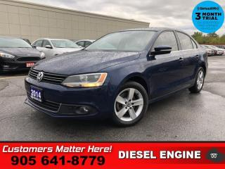 Used 2014 Volkswagen Jetta Comfortline  DIESEL ROOF CAM HTD-STS for sale in St. Catharines, ON