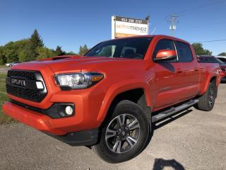 Used 2017 Toyota Tacoma TRD Off Road Wow! TRD Crew in Orange Loaded with NAV, Heated Seats, BackupCam, Bluetooth Soft Tonneau Cover and A for sale in Kemptville, ON