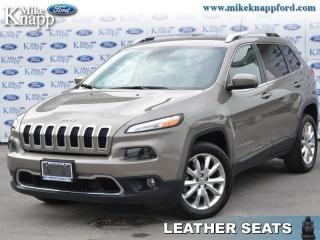 Used 2017 Jeep Cherokee Limited  - Leather Seats -  Bluetooth for sale in Welland, ON