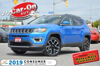 Used 2018 Jeep Compass LIMITED LEATHER REAR CAM HTD SEATS NAV READY for sale in Ottawa, ON