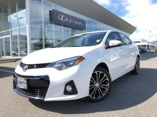 Used 2016 Toyota Corolla 4-Door Sedan S Cvti-S S Model, Local, No Accidents for sale in North Vancouver, BC
