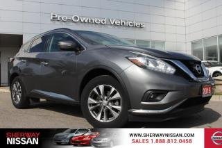 Used 2015 Nissan Murano One owner accident free trade. Nissan certified preowned! for sale in Toronto, ON
