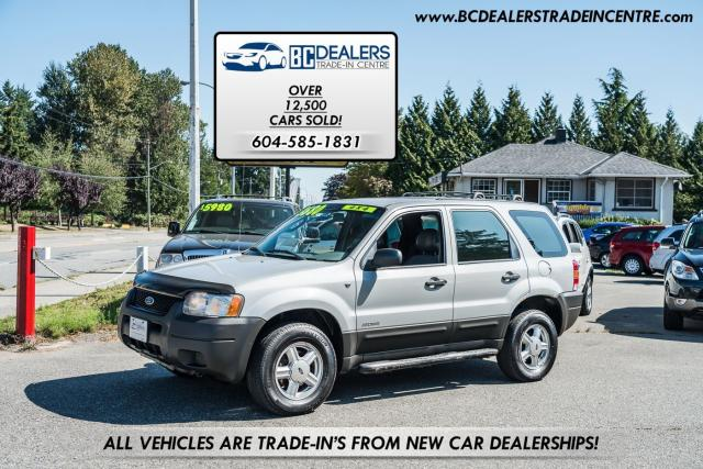 2002 Ford Escape XLS AWD Duratec V6, Local, Inspected, Very Clean!