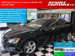 Used 2016 Volvo S60 T5 Premier AWD+Blind Spot+Collision Alert+Sensors for sale in London, ON