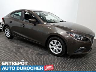 Used 2016 Mazda MAZDA3 GX+ Automatique - AIR CLIMATISÉ - Caméra de Recul for sale in Laval, QC