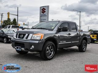 Used 2015 Nissan Titan PRO-4X Crew Cab 4x4 ~Nav ~Cam ~Leather ~Moonroof for sale in Barrie, ON