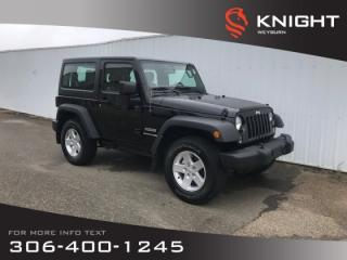 Used 2018 Jeep Wrangler JK Sport | Bluetooth | Accident Free | Low KM for sale in Weyburn, SK