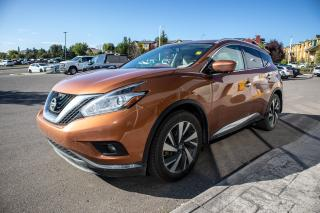 Used 2017 Nissan Murano Platinum AWD, Leather, Navigation, Moonroof, 3.5L engine and more. Accident free history. for sale in Okotoks, AB