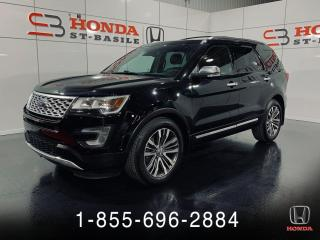 Used 2017 Ford Explorer PLATINIUM + NAVI + CUIR + TOIT + WOW !! for sale in St-Basile-le-Grand, QC