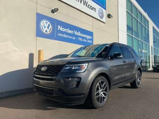 Used 2018 Ford Explorer SPORT 4WD - LEATHER / SUNROOF / LOADED! for sale in Edmonton, AB