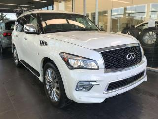 Used 2017 Infiniti QX80 TECHNOLOGY, ACCIDENT FREE, POWER HEATED/VENTED LEATHER SEATS, SUNROOF, KEYLESS IGNITION for sale in Edmonton, AB