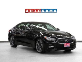 Used 2015 Infiniti Q50 Limited 4WD Navigation Leather Sunroof Backup Cam for sale in Toronto, ON