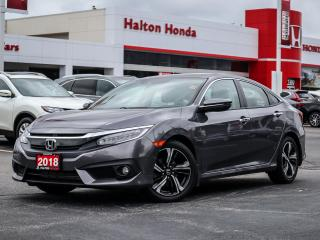 Used 2018 Honda Civic Touring|SERVICE HISTORY ON FILE|ACCIDENT FREE for sale in Burlington, ON