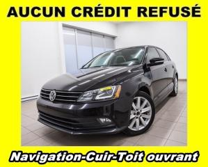 Used 2015 Volkswagen Jetta TSI HIGHLINE TOIT OUVRANT SIÈGES CHAUFF NAV *CUIR* for sale in St-Jérôme, QC
