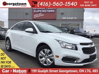 Used 2015 Chevrolet Cruze LT 1LT | AUTO | TINTS | BU CAM | FUEL SAVER for sale in Georgetown, ON