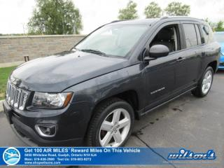 Used 2014 Jeep Compass High Altitude - Leather, Sunroof, Heated Seats, Uconnect w/ Bluetooth, Alloys and more! for sale in Guelph, ON