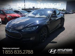 Used 2015 Tesla Model S P85D + AWD + AUTOPILOT + NAVI + MAGS 21 for sale in Drummondville, QC