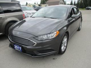 Used 2017 Ford Fusion FUEL EFFICIENT SE MODEL 5 PASSENGER 2.5L - DOHC.. HEATED SEATS.. CD/USB INPUT.. BLUETOOTH SYSTEM.. BACK-UP CAMERA.. KEYLESS ENTRY & START.. for sale in Bradford, ON