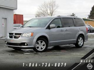 Used 2018 Dodge Grand Caravan CREW PLUS + NAV + CUIR + CAMÉRA + STOWN' for sale in Magog, QC