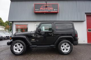 Used 2015 Jeep Wrangler SAHARA 4X4 AUTO 2 TOIT GPS NAV BLUETOOTH 61 990 KM for sale in Lévis, QC