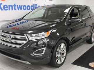 Used 2015 Ford Edge Titanium AWD with NAV, sunroof, heated/cooled power leather seats, heated steering wheel, heated rear seats and back up cam for sale in Edmonton, AB