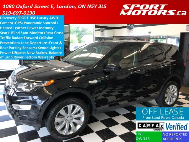 2016 Land Rover Discovery Sport HSE LUXURY AWD+Blind Spot+GPS+Camera+Pano Roof