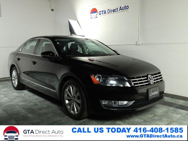 2012 Volkswagen Passat TDI Highline DSG Nav Sunroof Leather Certified