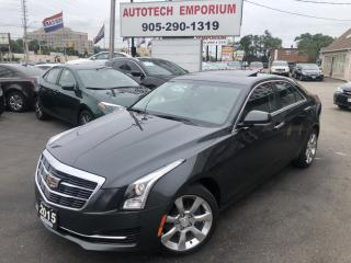 Used 2015 Cadillac ATS AWD Luxury Navi/Sunroof/Htd Seats/Btooth/Cam for sale in Mississauga, ON