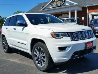 Used 2017 Jeep Grand Cherokee Overland 4x4, Pano Roof, Leather Heated/Vented Seats, Safety Pkg, NAV, Back Up Cam for sale in Paris, ON