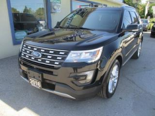 Used 2016 Ford Explorer FOUR-WHEEL DRIVE LIMITED EDITION 7 PASSENGER 3.5L - V6.. BENCH & 3RD ROW.. NAVIGATION.. DUAL SUNROOF.. LEATHER.. HEATED/AC SEATS.. SONY AUDIO.. for sale in Bradford, ON