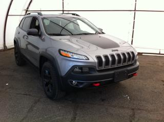 Used 2016 Jeep Cherokee Trailhawk LEATHER SEATING, POWER SUNROOF, NAVIGATION, TRAILER GROUP, COLD WEATHER GROUP for sale in Ottawa, ON