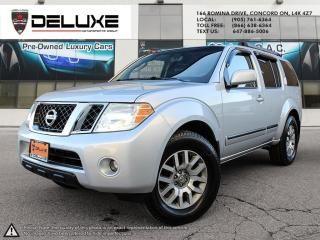 Used 2009 Nissan Pathfinder NISSAN PATFINDER S Leather, sunroof 7 passenger back up camera 4WD all new tires just arrived as a t for sale in Concord, ON