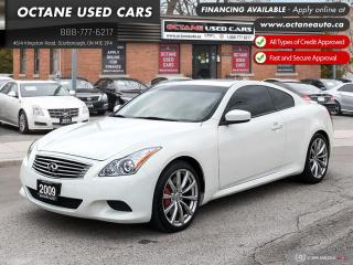 Used 2009 Infiniti G37 Sport Manual! Certified! 2 YEARS WARRANTY! for sale in Scarborough, ON