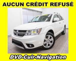 Used 2014 Dodge Journey R/T AWD 7 PLACES DVD CUIR NAV ÉCRAN 8.4 *BAS KM* for sale in Mirabel, QC