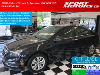 Used 2015 Chevrolet Cruze LT+Camera+Remote Start+Bluetooth+A/C+MyLink for sale in London, ON