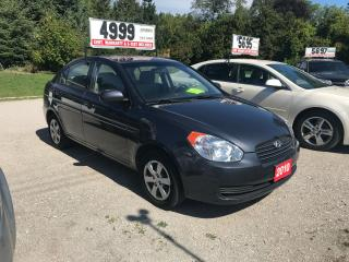 Used 2010 Hyundai Accent GL for sale in Oro Medonte, ON