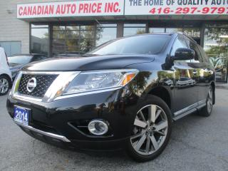 Used 2014 Nissan Pathfinder Platinum-AWD-NAV-360 CAM-PANO-ROOF-DVD-LTHER-7 PAS for sale in Scarborough, ON