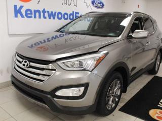 Used 2016 Hyundai Santa Fe Sport Luxury AWD Sport with panoramic roof, heated power leather seats, heated steering wheel and back up cam for sale in Edmonton, AB