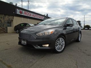 Used 2016 Ford Focus Titanium LOW KM NO ACCIDENT NAV LEATHER SUNROOF for sale in Oakville, ON