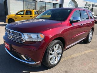Used 2018 Dodge Durango Citadel V6 w/Tow Group, Safety Tech Group, Navi, S for sale in Hamilton, ON
