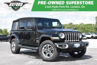 Used 2019 Jeep Wrangler Unlimited Sahara 4x4 - Manager Demo, Dual Tops, GPS for sale in London, ON