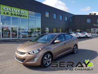 Used 2015 Hyundai Elantra Auto GLS, bluetooth, toit, bluetooth. for sale in Chambly, QC