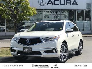 Used 2017 Acura MDX Elite SH-AWD, Ultrawide DVD, Park Sensors for sale in Markham, ON
