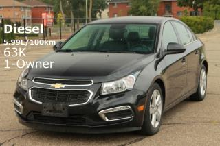 Used 2015 Chevrolet Cruze DIESEL | LOW KMs | NO Accidents | 1-Owner for sale in Waterloo, ON